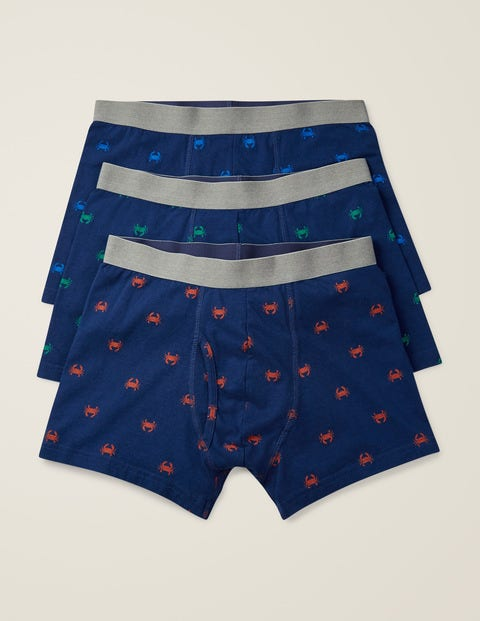 3 Pack Jersey Boxers - Crab Multi Pack