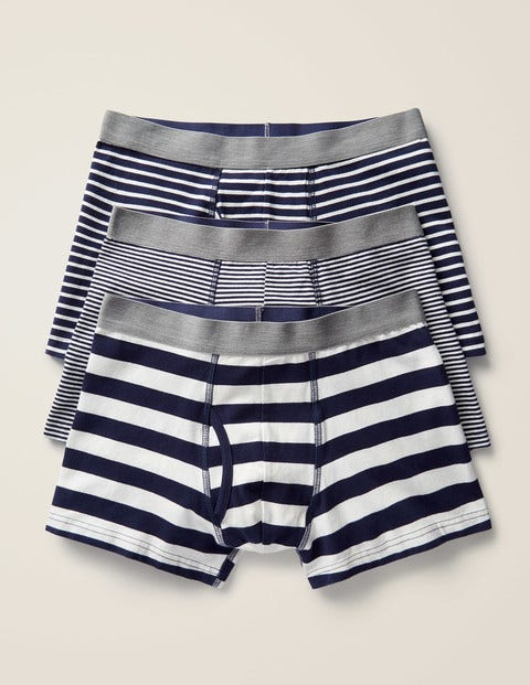 3 Pack Jersey Boxers - Navy Mix Stripe Pack