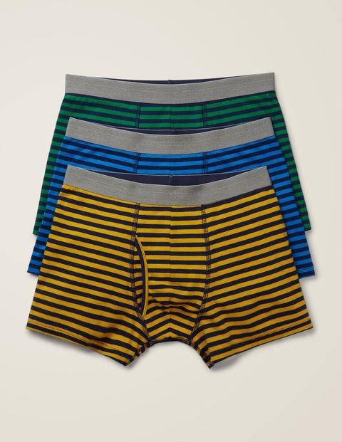 3 Pack Jersey Boxers - Navy Multi Stripe Pack