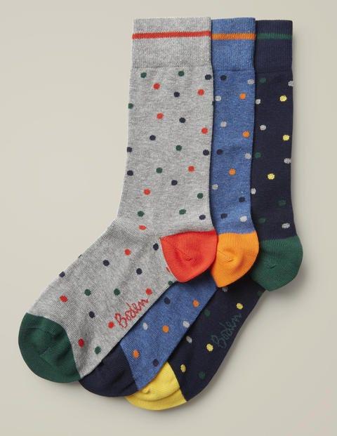 Favourite Socks - Navy Spot Pack