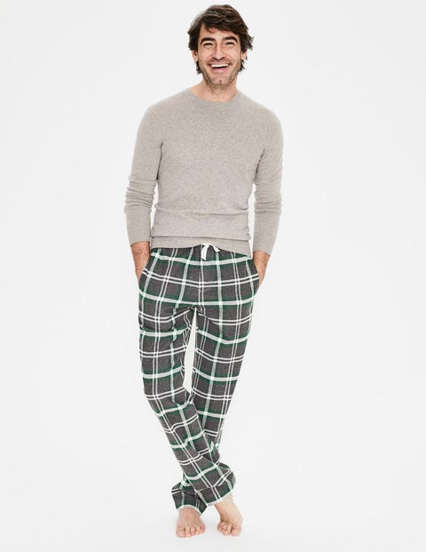 Brushed Cotton Pull-Ons - Grey Marl/Scots Pine Check