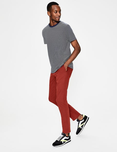 Lightweight Slim Chinos - Cayenne Pepper