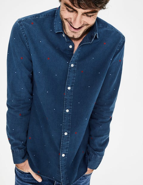 Slim Fit Indigo Shirt