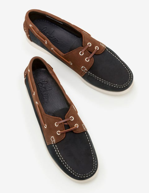 Boat Shoes - Navy/ Brown