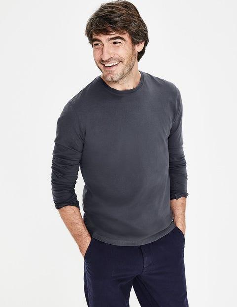 Long Sleeve Washed T-Shirt - London Grey
