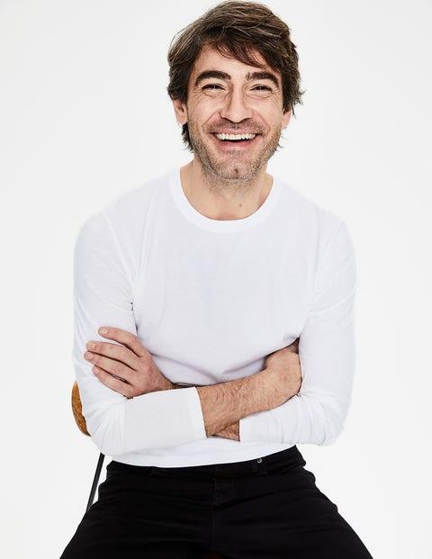 Long Sleeve Washed T-Shirt - White