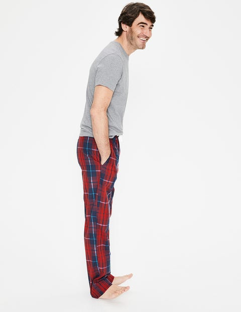 Cotton Poplin Pull-Ons - Navy/Red Check