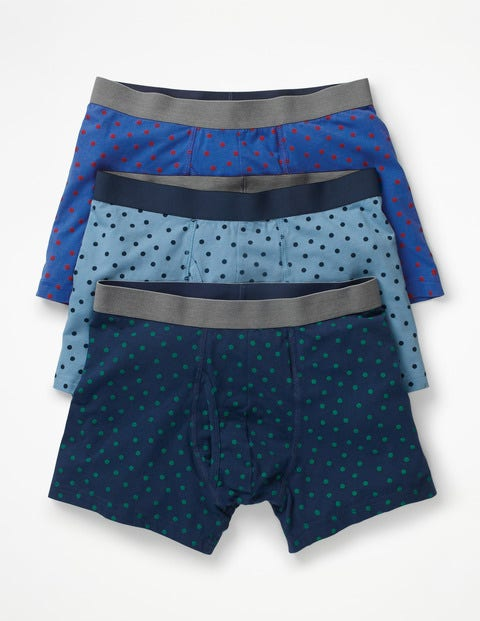 3 Pack Jersey Boxers - Blues Spot Multi Pack