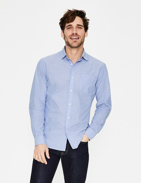 Poplin Shirt - Blue End on End