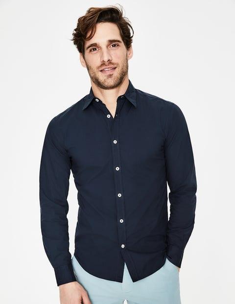 Slim Fit Poplin Shirt - Navy