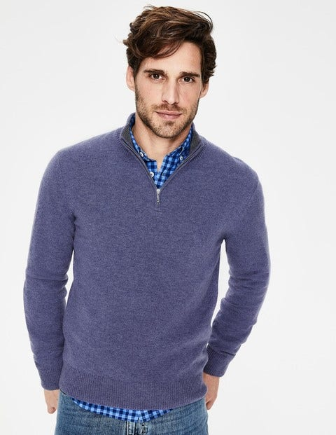 Cashmere Half-Zip - Heather Marl