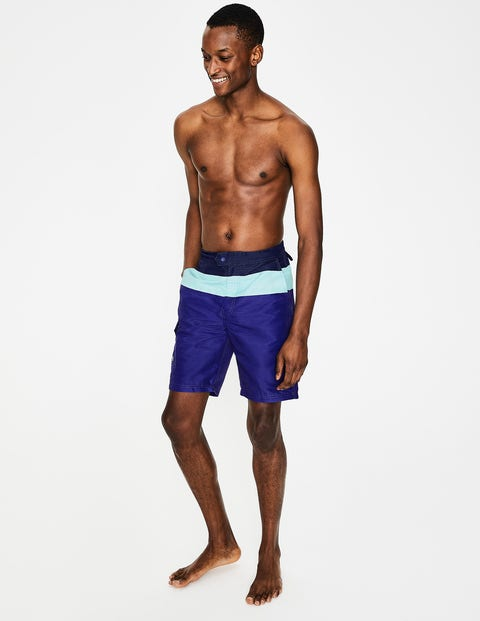 Board Shorts - Navy Blue Colourblock
