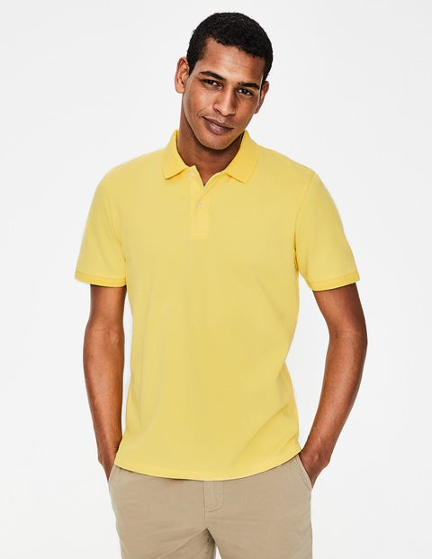 Piqué Polo - Washed Yellow
