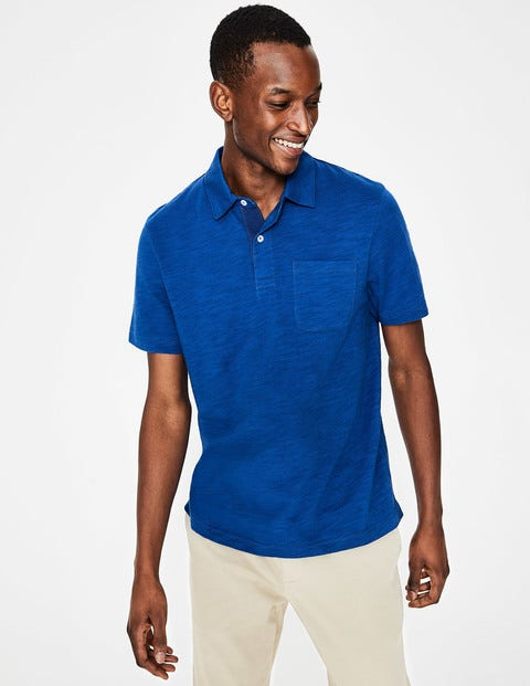 Slub Polo - Blue Wave