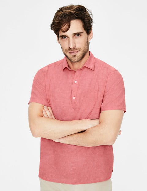 Linen Cotton Popover - Peach Melba