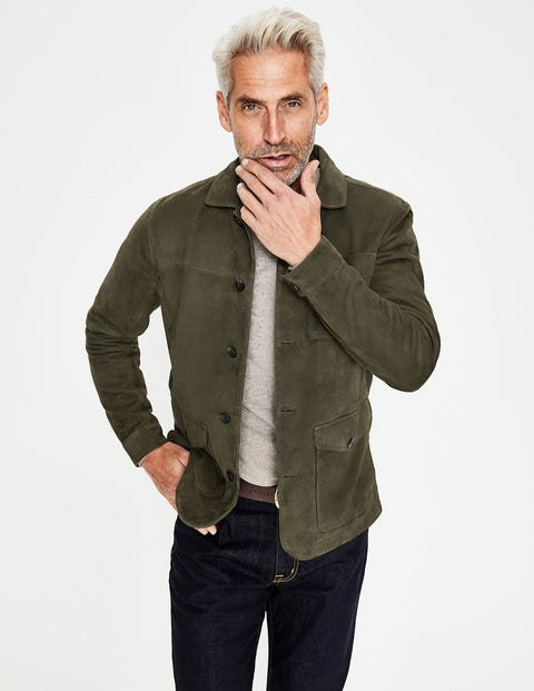 Canonbury Suede Jacket - Olive