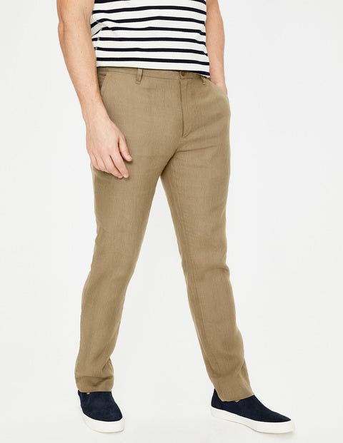 Clovelly Linen Trousers - Malt