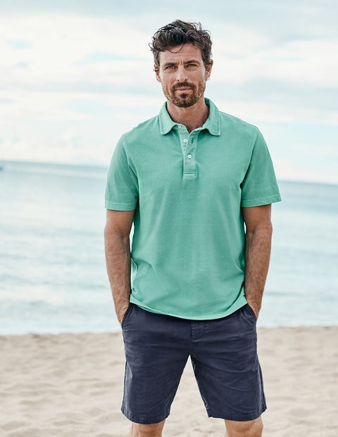Garment-Dyed Polo - Jungle Green