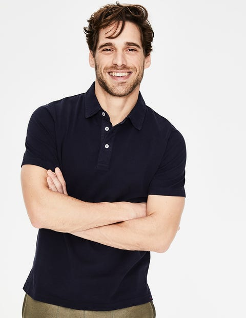 Garment-Dyed Polo - Navy
