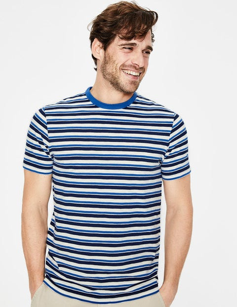 Stripe T-Shirt - Blues Multi Stripe