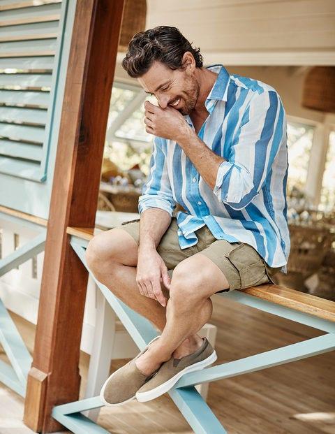 Felton Linen Cargo Shorts - Malt