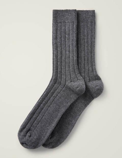 Cashmere Socks - Grey Marl