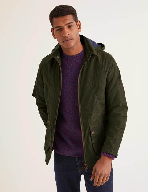 Holt Waxed Jacket - Olive