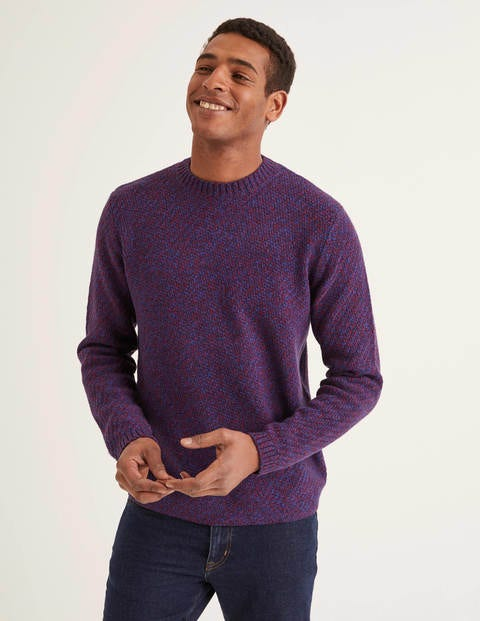 Merino Twist Crew Neck - Rio Red Multi