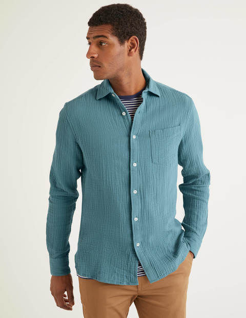 Arundel Doublecloth Shirt - Dusk Blue