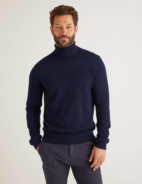 Cashmere Roll Neck - Navy