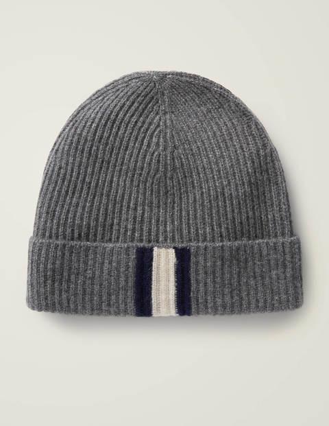 Cashmere Hat - Grey Marl