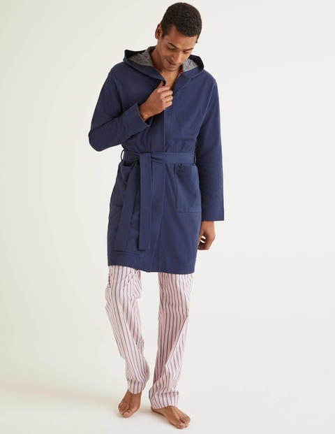 Piqué Dressing Gown - Navy