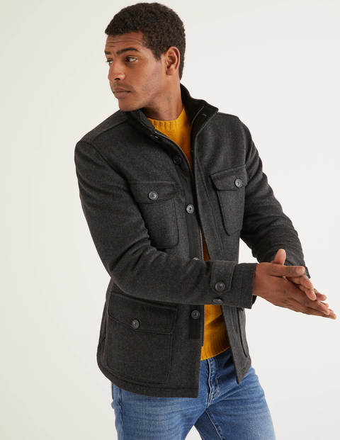 Arlington Field Coat - Charcoal