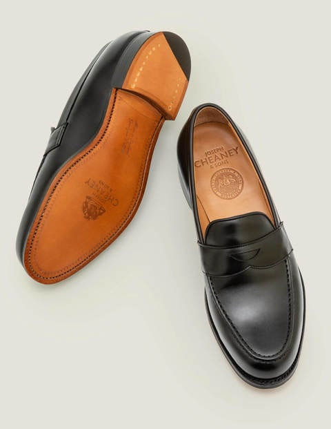 Cheaney Hudson Penny Loafer - Black