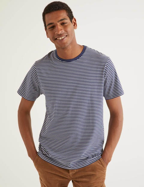 T-Shirt - Navy/Ivory Stripe