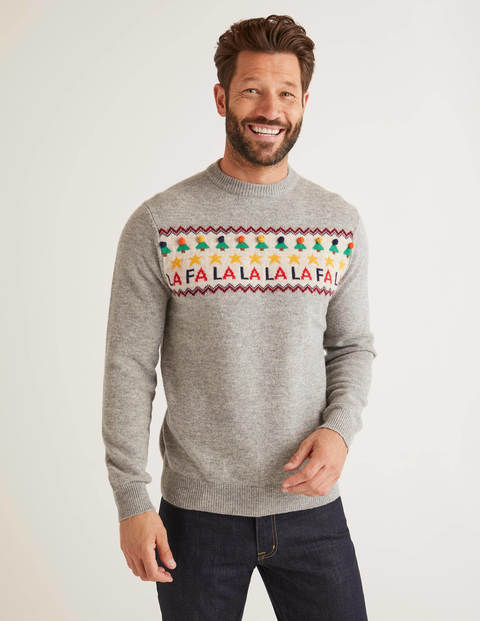 Christmas Crew Neck - Grey Falalala
