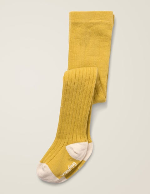 Ribbed Tights - Spicy Mustard Yellow