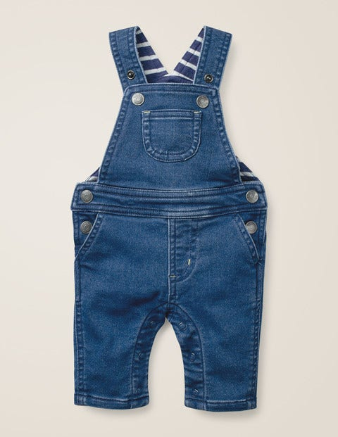 Jersey Denim Dungarees - Denim Blue
