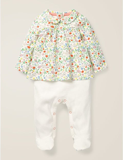 Two-In-One Sleepsuit - Multi Wild Bunnies