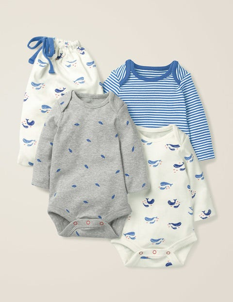 3 Pack Whales Bodies - Ivory Baby Whales