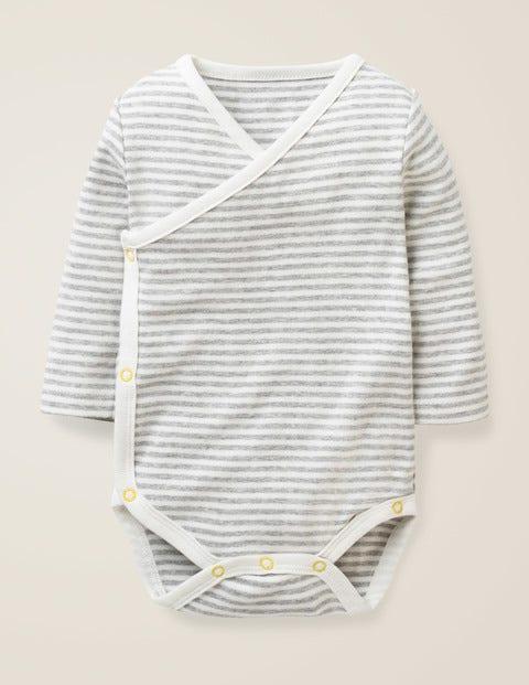 Stripy Wrap Body - Ivory/Grey Marl Stripe