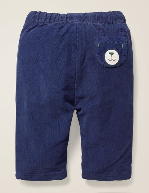 Slim Fit Cord Pants - Starboard Blue