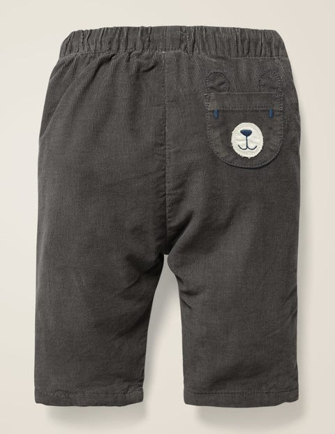 Novelty Pocket Cord Trouser - Night Owl Grey