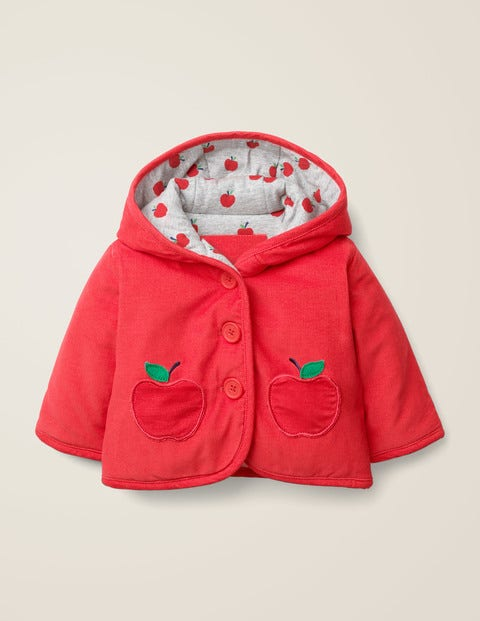 Cosy Cord Jacket - Carmine Red Apple