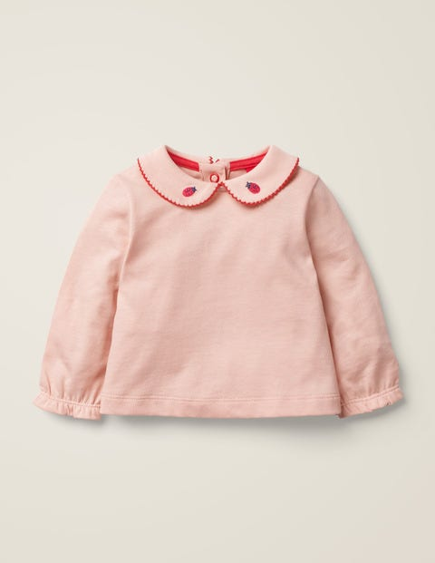 Broderie Collar T-Shirt - Provence Dusty Pink
