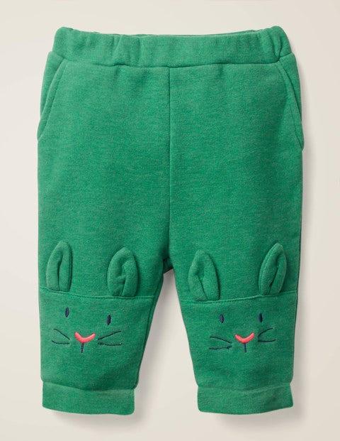 Pantalon Avec Motif Lapin Aux Genoux - Lapins vert romarin chiné