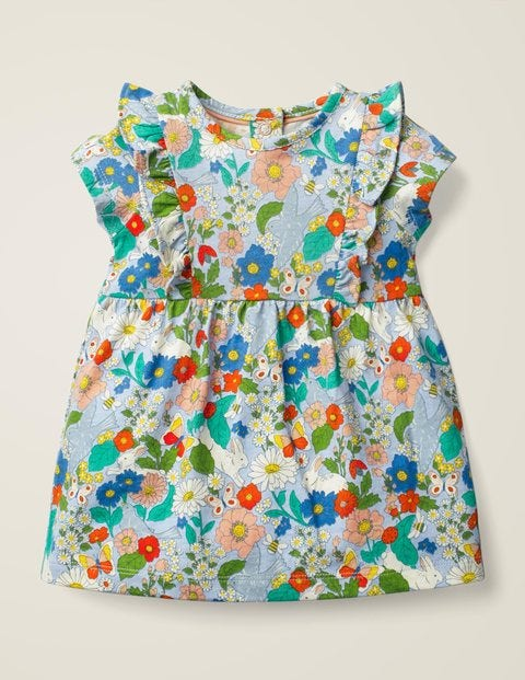 Printed Jersey Dress - Multi Baby Florabunda