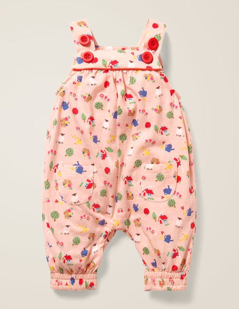 Floral Jersey Overalls - Provence Dusty Pink Farm