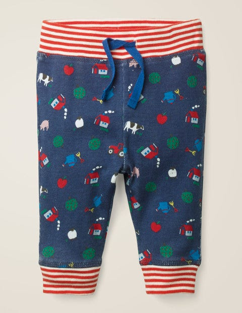 Reversible Jersey Trousers - Starboard Blue Farm
