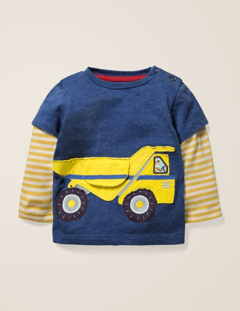 Novelty Vehicle T-Shirt - Deep Blue Marl Dumper Truck